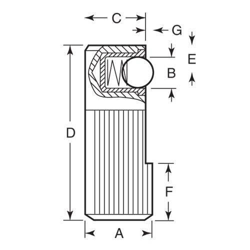 Diagram - Pins - Side Thrust - Single Sided - Steel Ball