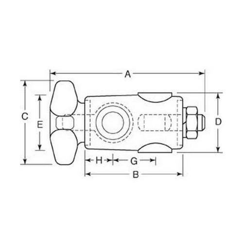 Diagram - Cross Blocks - Heavy Duty - One Knob One Nut