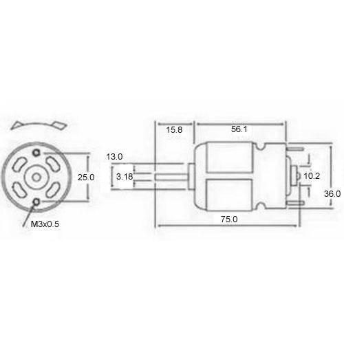 Diagram - Motors - DC 36.0X71.0 mm