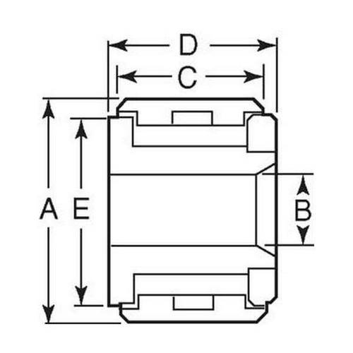 Diagram - Rollers - Yoke - Self Lubricating